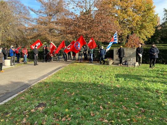 Totensonntag-Gedenkveranstaltung für die Opfer des Faschismus