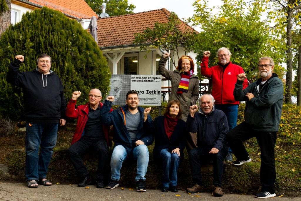 Gruppenbild der Landesliste der DKP Baden-Württemberg zur Bundestagswahl 2021