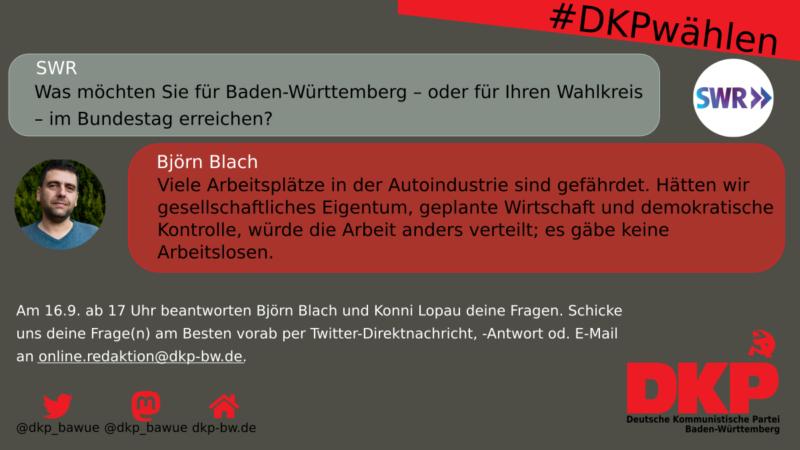 Björn Blach zu den Herausforderungen in Baden-Württemberg und Stuttgart